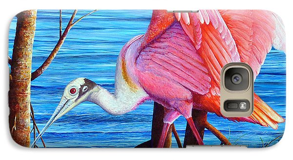 Galaxy Case featuring the painting Red Eye Squared by AnnaJo Vahle