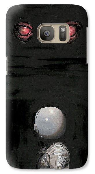 Astronaut Galaxy S7 Case - Red Eyes by Scott Listfield