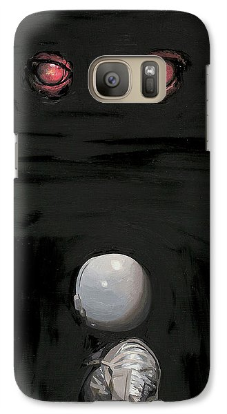 Red Eyes Galaxy Case by Scott Listfield
