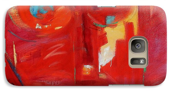 Galaxy Case featuring the painting Red Face by Gary Coleman