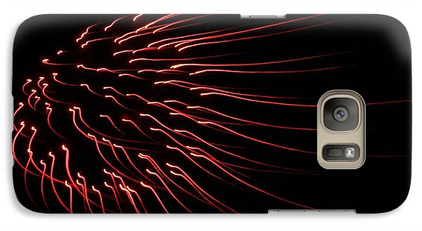 Galaxy Case featuring the photograph Red Firework  by Chris Berry