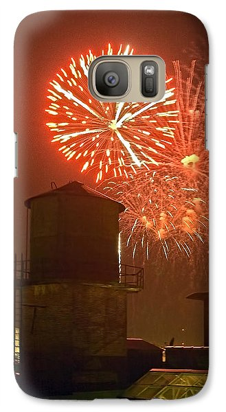 Red Fireworks Galaxy S7 Case