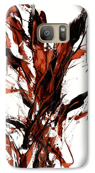 Galaxy Case featuring the painting Red Flame 66.121410 by Kris Haas