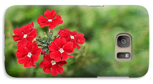 Red Flowers Galaxy S7 Case