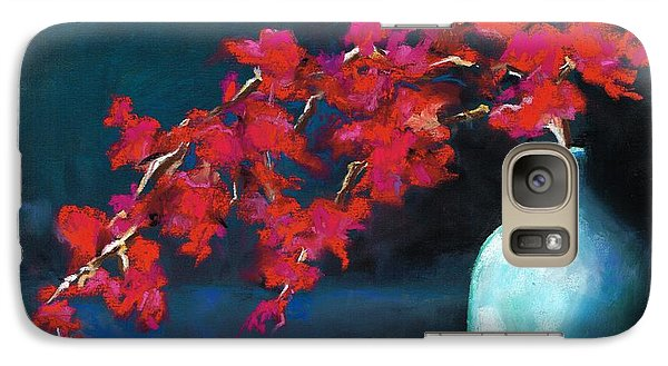 Galaxy Case featuring the painting Red Flowers by Frances Marino
