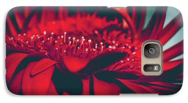 Galaxy Case featuring the photograph Red Flowers Parametric by Sharon Mau