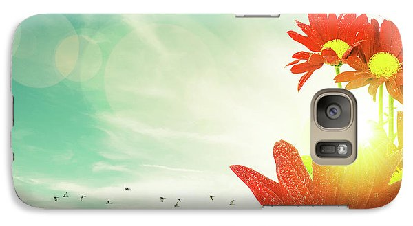 Galaxy Case featuring the photograph Red Flowers Spring by Carlos Caetano