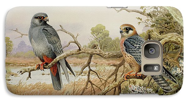 Red-footed Falcons Galaxy S7 Case by Carl Donner