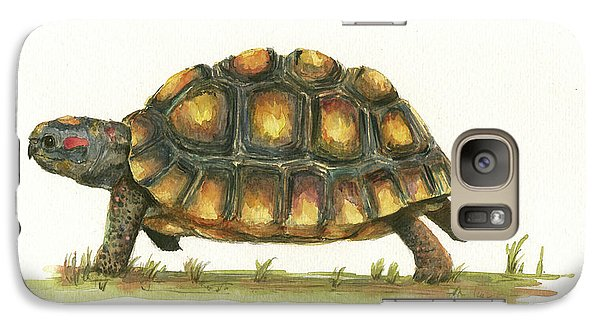 Red Footed Tortoise  Galaxy Case by Juan Bosco