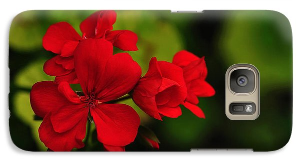 Red Geranium Galaxy S7 Case by Kaye Menner