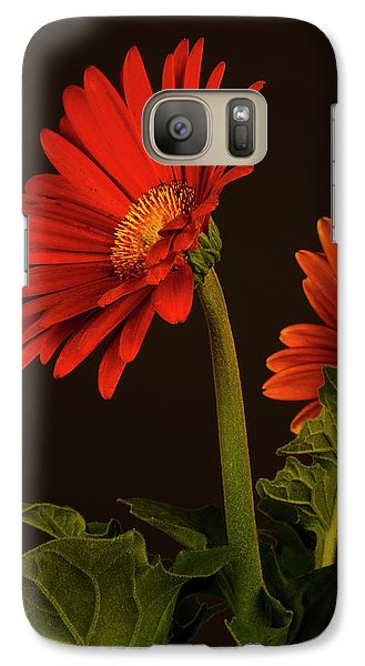 Galaxy Case featuring the photograph Red Gerbera Daisy 1 by Richard Rizzo