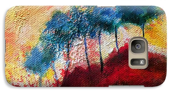 Galaxy Case featuring the painting Red Glade by Elizabeth Fontaine-Barr