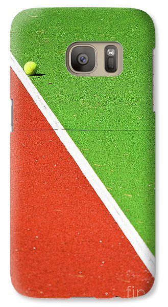 Red Green White Line And Tennis Ball Galaxy S7 Case