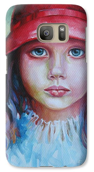 Galaxy Case featuring the painting Red Hat by Elena Oleniuc