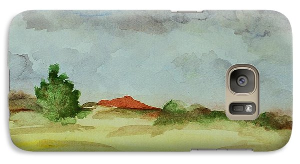 Galaxy Case featuring the painting Red Hill Landscape by Vonda Lawson-Rosa