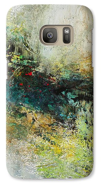 Galaxy Case featuring the painting Red In The Landscape by Frances Marino