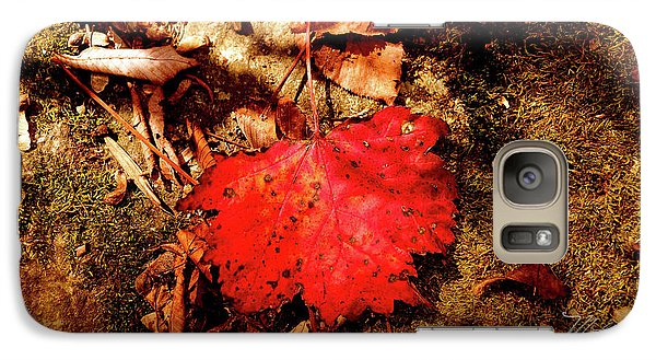 Galaxy Case featuring the photograph Red Leaf by Meta Gatschenberger