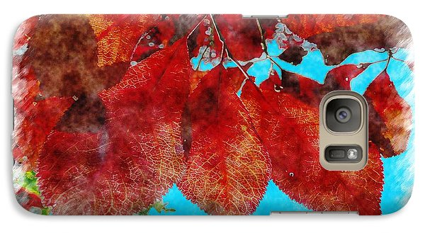 Galaxy Case featuring the photograph Red Leaves by Jean Bernard Roussilhe