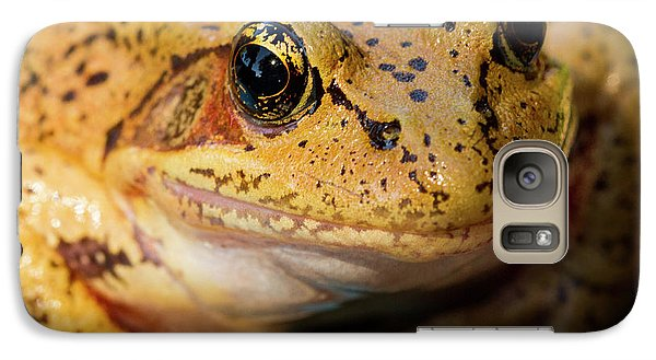 Galaxy Case featuring the photograph Red Leg Frog by Jean Noren