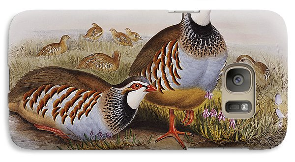 Red-legged Partridges Galaxy Case by John Gould