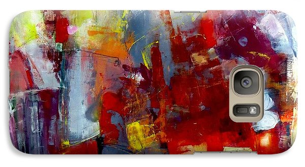 Galaxy Case featuring the painting Red Light by Katie Black