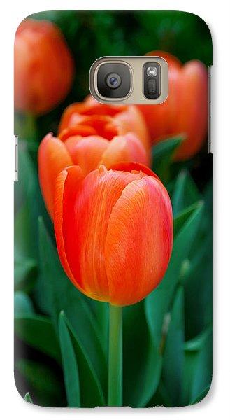 Red Tulips Galaxy S7 Case by Az Jackson