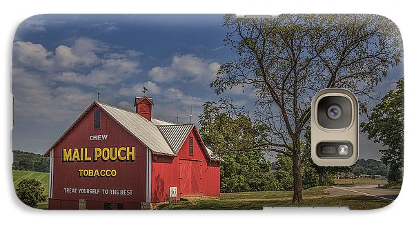 Galaxy Case featuring the photograph Red Mail Pouch Barn by Wendell Thompson