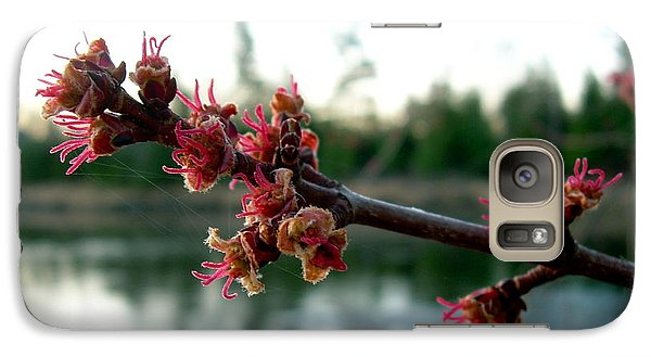 Galaxy Case featuring the photograph Red Maple Buds At Dawn by Kent Lorentzen