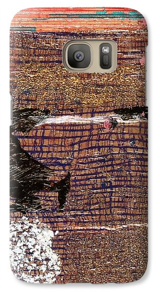 Galaxy Case featuring the painting Red Moon by Carolyn Repka