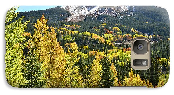 Galaxy Case featuring the photograph Red Mountain Fall Color by Ray Mathis