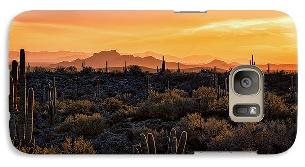 Galaxy Case featuring the photograph Red Mountain Sunset Part Two  by Saija Lehtonen