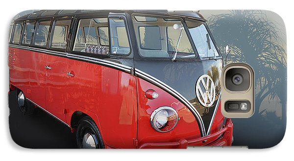 Galaxy Case featuring the photograph Red N Black Kombi by Bill Dutting