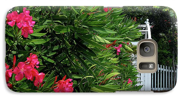 Galaxy Case featuring the photograph Red Oleander Arbor by Marie Hicks