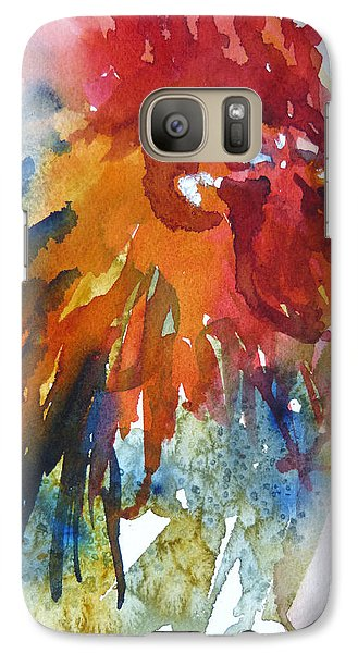Galaxy Case featuring the painting Red by P Maure Bausch