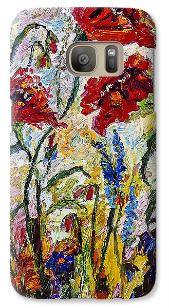 Galaxy Case featuring the painting Red Poppies And Bees Provence by Ginette Callaway