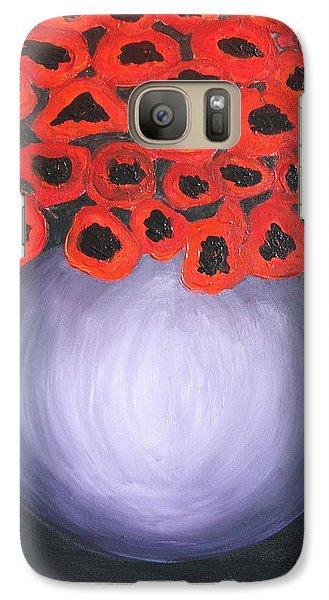 Galaxy Case featuring the painting Red Poppies  by Jolanta Anna Karolska