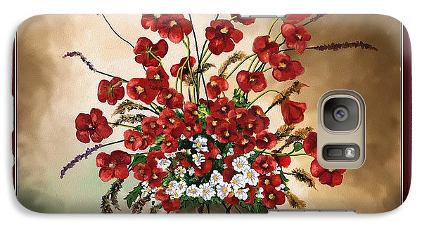 Galaxy Case featuring the digital art Red Poppies by Susan Kinney