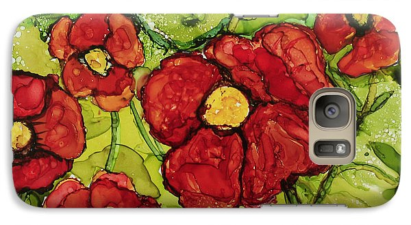 Galaxy Case featuring the painting Red Poppies by Suzanne Canner