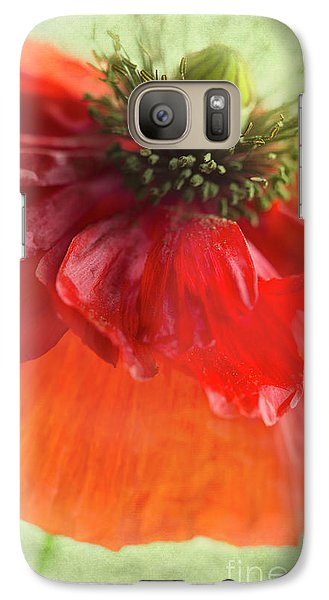 Galaxy Case featuring the photograph Red Poppy by Elena Nosyreva