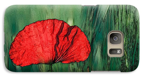 Galaxy Case featuring the photograph Red Poppy Flower by Jean Bernard Roussilhe
