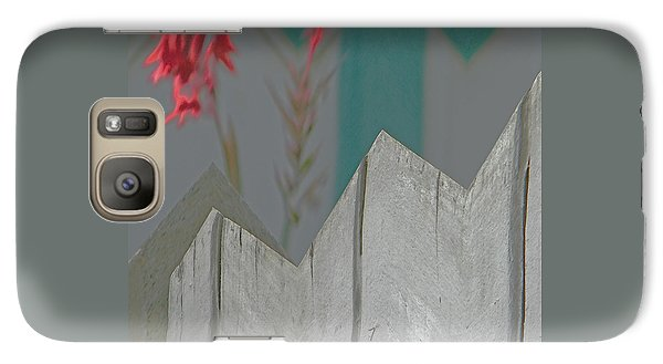 Galaxy Case featuring the digital art Red Pops Out by Lenore Senior