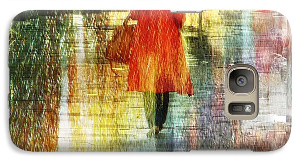 Galaxy Case featuring the photograph Red Rain Day by LemonArt Photography