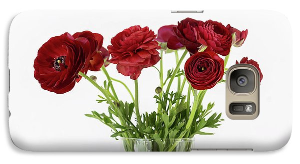 Galaxy Case featuring the photograph Red Ranunculus by Kim Hojnacki