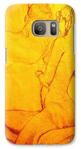 Galaxy Case featuring the drawing Red Reflection by Vonda Lawson-Rosa