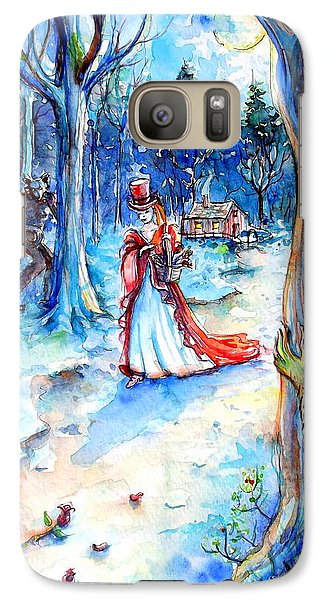 Galaxy Case featuring the painting Red Riding Hood And Werewolves by Heather Calderon