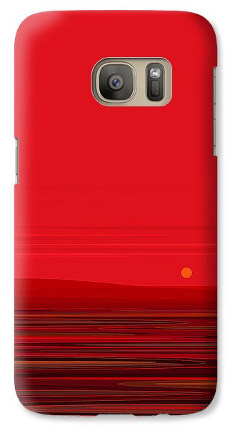 Galaxy Case featuring the digital art Red Ripple II by Val Arie