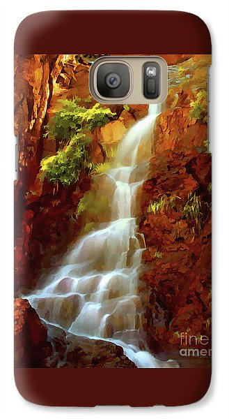 Galaxy Case featuring the painting Red River Falls by Peter Piatt