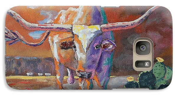 Red River Showdown Galaxy S7 Case by J P Childress