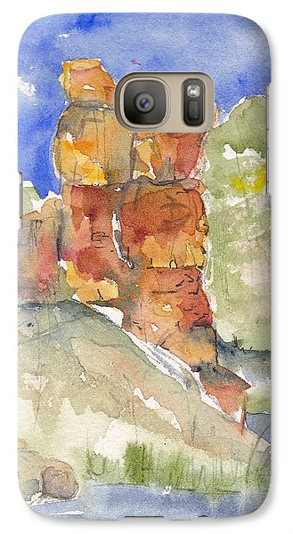 Galaxy Case featuring the painting Red Rock  Canyon by Anne Duke