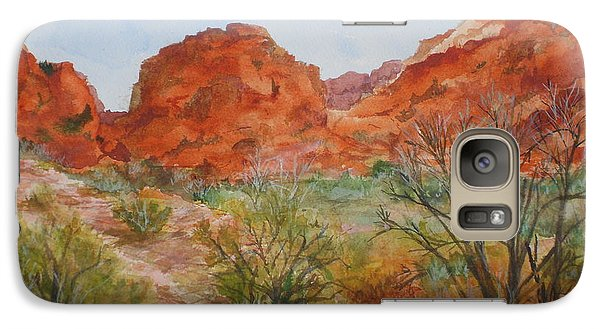 Galaxy Case featuring the painting Red Rock Canyon by Vicki  Housel